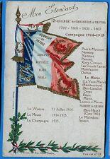 CPA Patriotique: Etendard - 12° Régiment de Chasseurs à Cheval  / Guerre 14-18
