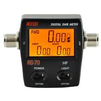 NISSEI RS-70 Digital SWR Power Counter 1.6-60MHz 200W M Type Connector
