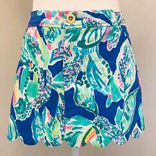 LILLY PULITZER Women's Sz.00 Multi Blue Green Skort Skirt Scalloped Spring NWOT