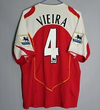 ARSENAL LONDON 2004 2005 HOME FOOTBALL SHIRT JERSEY #4 VIEIRA NIKE SIZE M