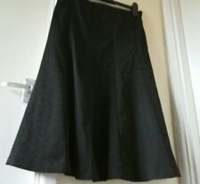 Coast black panelled satin and patterned skirt size 8