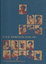 ☆* USS HANCOCK CVA-19 VIETNAM DEPLOYMENT CRUISE BOOK YEAR LOG 1970-71 - NAVY *☆