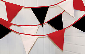 Bournemouth bunting colours ** 10 mtr ** red, white and black