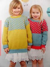 GIRL'S SWEATER/JUMPER ~ Sizes 3 - 10 years ~ Knitting Pattern ~ NEW