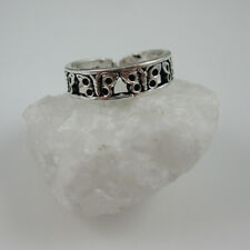 Butterfly Adjustable Toe Ring - 925 Sterling Silver Toe Ring with Butterflies