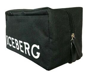 Iceberg Travel Toiletry Wash Bag Black for Men Him