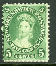 Canada 1860 New Brunswick 5¢ Queen Victoria Scott #8 Mint F236 ⭐⭐⭐⭐⭐⭐