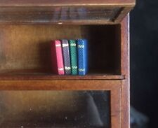 Four Books, Dolls House Miniature, Stationery, Library, Book Writing Miniatures