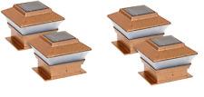 4 PK 2-SMD Outdoor 4X4 Garden Solar Copper Post Deck Cap Square Fence Light 244A