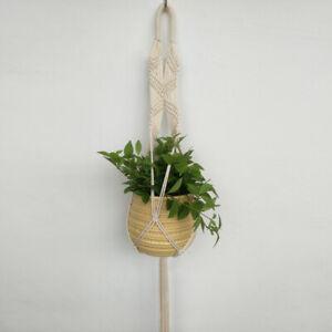 Pot Holder Vintage Rope Braided Macrame Plant Hanger Hanging Planter Basket Rope