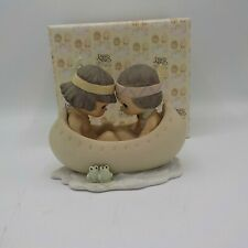 "Precious Moment ""Many Moons in the Same Canoe, Blessum You"" Figurine (retired)"
