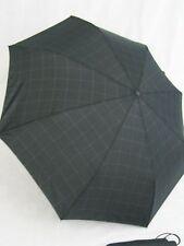 ESPRIT karierter Regenschirm Taschenschirm schwarz / khaki  50353 Herrenschirm