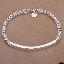 Wholesale Sterling Silver Bracelet Bangle Chain Unique Women Christmas gift