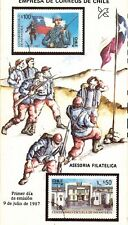 Chile 1987 Brochure Centenario Escuela de Infanteria del Ejercito
