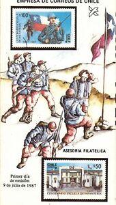 Chile 1987 Brochure Centenario Escuela de Infanteria del Ejercito - Army
