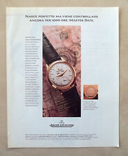 C082-Advertising Pubblicità-1998- JAEGER LE COULTRE MASTER DATE SIGILLO IN ORO