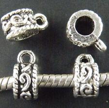 70pcs Tibetan Silver Barrel Shaped Bails 11x8x5.5mm 11535