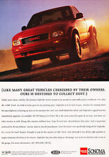 1995 GMC Sonoma Trucks - Dust - Classic Vintage Advertisement Ad D69