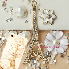 DIY Bling Phone Case DECO DEN KIT Romantic LA Tower Gem Petal Flower Camellia