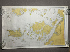 1960 US Coast and Geodetic Survey Map Depth Chart 309 Penobscot Bay MAINE 27x39