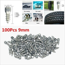 100Pcs Universal 9mm Screw in Tire Stud Snow Spikes Racing Track Tire Ice Studs