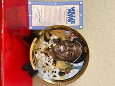 Willie Mays Collector's Plate 1992 Hamilton Collection Best of Baseball Plates