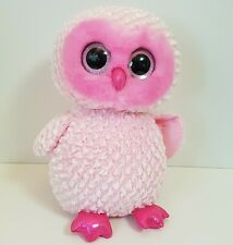 "Ty Beanie Boos Pink Twiggy Large Plush Owl 18"" - AS IS"