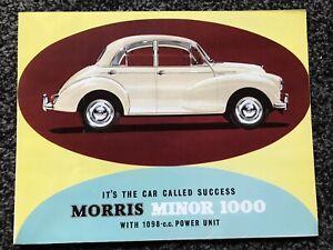 1963 Morris Minor 1000 Sales Brochure. Nr Mint Condition