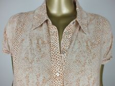 SUSSAN BLOUSE  SNAKESKIN PRINT TOP TANK TUNIC SHIRT -  12 MEDIUM
