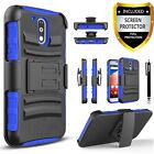 For Motorola Moto G4 /G4 Play /G4 Plus Phone Case, Belt Clip+HD Screen Protector