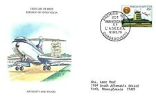 BURKINA FASO 1979 FIRST DAY COVER AIR SAFETY AND TRAVEL