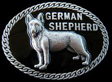 GERMAN SHEPHERDS CANINE PETS POLICE DOG QUALITY BELT BUCKLE BOUCLE CEINTURE