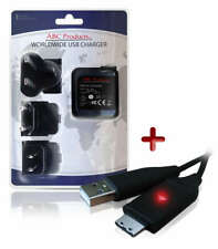 SAMSUNG DIGIMAX WB690 / WB700 / WP10 DIGITAL CAMERA USB CABLE + BATTERY CHARGER