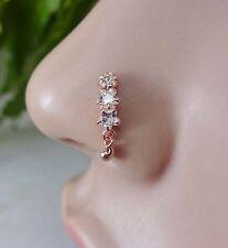 Opal Nose Stud Indian Nose Ring Nose Piercing  Crock Screw Nose Stud Nose Ring .