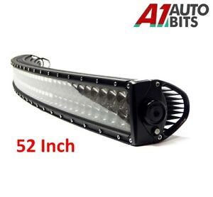 """52"""" 300w Curved Cree LED Light Bar Spot IP68 Driving Light Off Road 4WD Boat"""