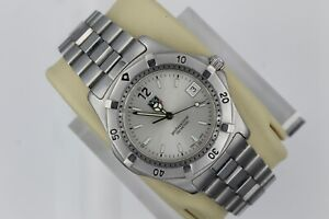Tag Heuer 2000 WK1112.BA0311 Classic Professional Watch Mens Silver Mint Sport