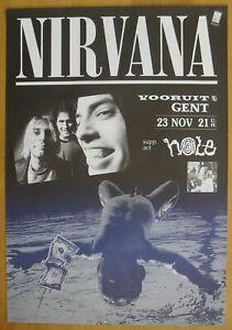 NIRVANA kurt cobain original concert poster '91