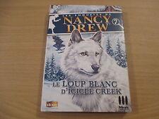 pc cd-rom les enquetes de nancy drew le loup blanc d'icile creek