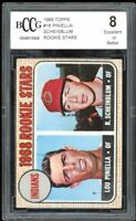 1968 Topps #16 Lou Piniella / Scheinblum Rookie Stars Card BGS BCCG 8 Excellent+