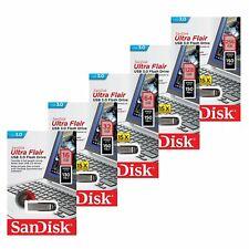 SanDisk 16/32/64/128/256GB Ultra Flair CZ73 Unidad USB 3.0 Flash Drive 150MB/s