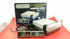 NES Control Deck System [w/ 2 Official Controllers, Box & All Cables] Working