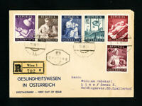 Austria Stamps SC#B208-13 on First Day Cover FDC
