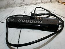 Rocketfish Power Surge Protector Strip With Phone Cable Black