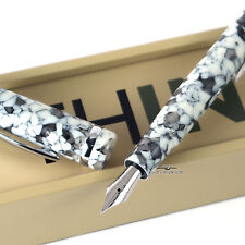 Think Classic 20 White & Black Resin Fountain Pen