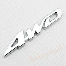 Chrome Auto Decorate Accessories 4 WD 4WD Emblems Badge 3D Decal Sticker Metal