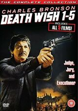 Death Wish 1-5 5 Disc DVD Action & Adventure Region 2 2014