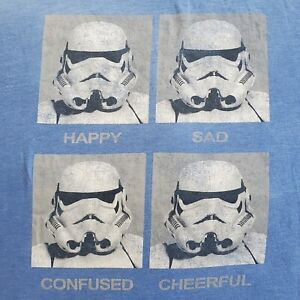 Star Wars Stormtrooper Expression TShirt Funny Graphic Tee Size 2XL