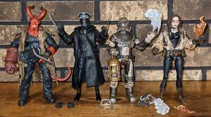 Mezco Toyz Movie HELLBOY, OFFICER KROENEN, JOHANN, & Comic LIZ loose figure lot