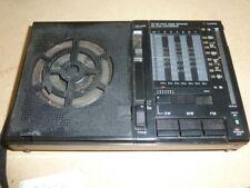 Vtg Sony ICF-7600AW Portable Transistor Radio Receiver FM MW SW 9 Band Working