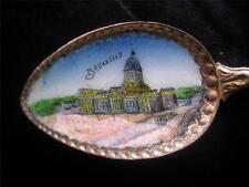 Vintage Silver Souviner Bruxelles Enameled Spoon